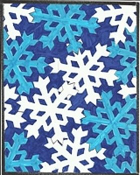 Snowflakes Color By Number Christmas