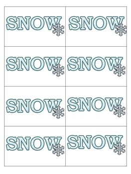 Snowflakes Compound Word Game