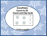 Winter Counting to 20, Count and Clip, Kindergarten Math, Special Education Math