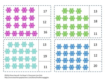 Winter Math Counting to 20, Count and Clip, Kindergarten Math, Special Education