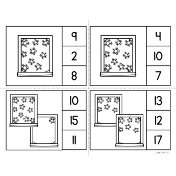 Snowflakes Counting Clip Cards - Fun for Math Centers!