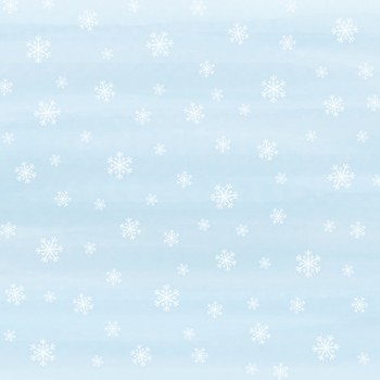 Snowflakes Digital Paper. White snow on blue watercolor backgrounds.