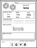 Snowflakes  - Editable Word Worksheet w/ Theme Focus