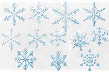 Snowflakes Elements - Winter Clipart