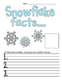 Snowflakes Facts Writing Actitivity Common Core Aligned