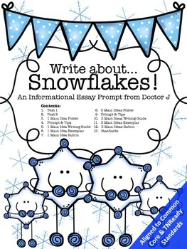 snowflakes informational essay writing prompt common core tn ready  snowflakes informational essay writing prompt common core tn ready aligned