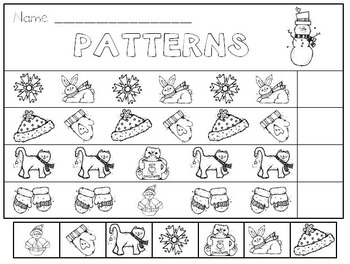 Snowflakes! Winter Activities for Kindergarten * Addition * Patterns * Rhyming