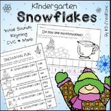 Snowflakes! Winter Activities for Kindergarten * Addition