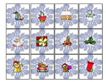 Snowflakes Matching Card Game