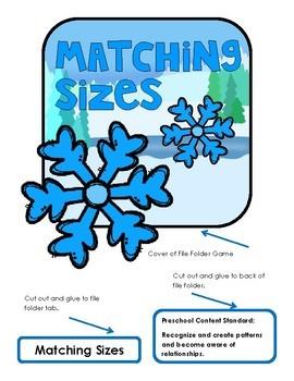 Snowflakes:  Matching Sizes File Folder Game