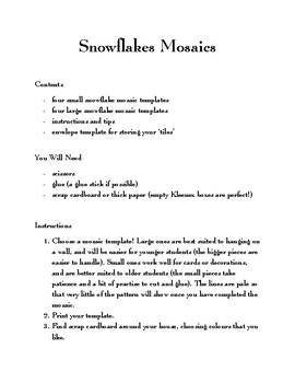 Snowflakes Mosaics