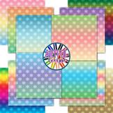Snowflakes - Ombre - Gradient Digital Paper Backgrounds