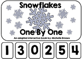 Snowflakes One By One Winter Adapted Book January (Autism, Early Childhood)