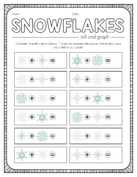 Snowflakes Roll and Graph Activity