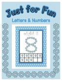 Snowflakes Shape Posters - Alphabet & Numbers - Just for F