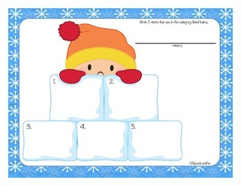 Snowflakes, Snowflakes, Everywhere! Winter Activities -Expressive Language Unit-