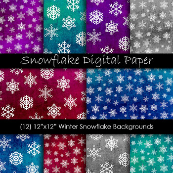 Snowflakes - Winter Snow Backgrounds
