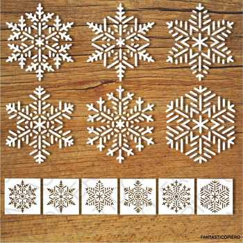 Snowflakes and Stencils SVG files for Silhouette Cameo and Cricut.