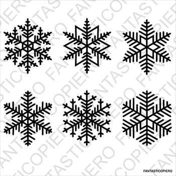 Snowflakes 3 SVG files for Silhouette Cameo and Cricut.