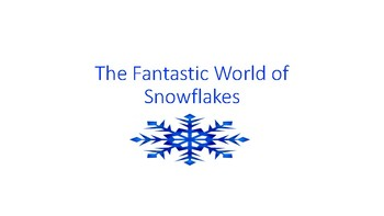 Snowflakes for Beginning Literacy