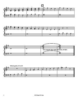Snowflakes, for two octaves handbells G4-g6