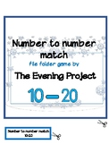 Snowflakes number to number file folder game 10-20
