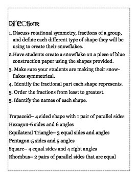 Snowflakes with Rotational Symmetry and Fractions