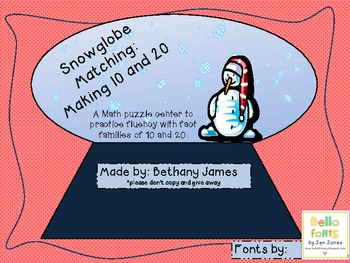 Snowglobe Math Fluency: Making 10 and 20