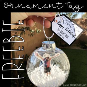Snowglobe Ornament Tag FREEBIE