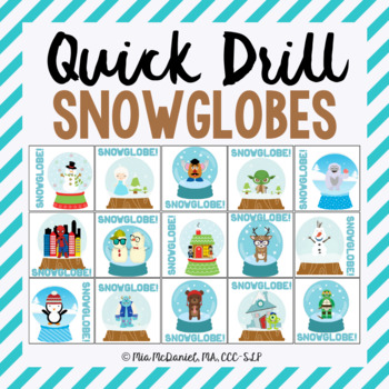 Snowglobe Quick Drill {for articulation or fluency therapy & RTi}