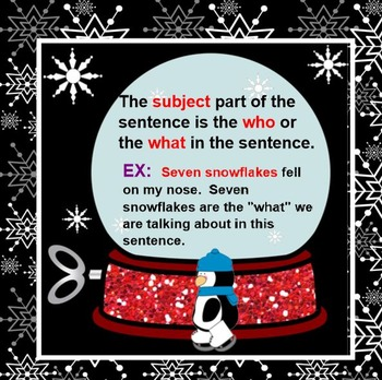 Snowglobe Subjects and Predicates