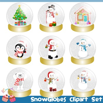 Snowglobes Snow Globes Clipart Set