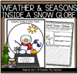 Seasonal Snowglobe Writing: No Prep Science & Writing Worksheets
