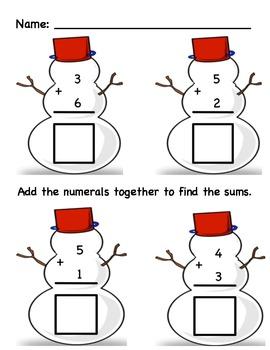 """""""Snowing"""" My Best Work Math Packet"""