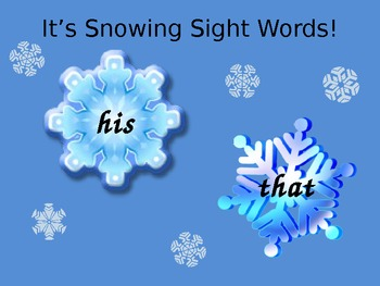 Snowing Sight Words!