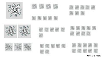 Snowman 1-10 Snowflake Match
