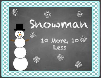 Snowman 10 More 10 Less