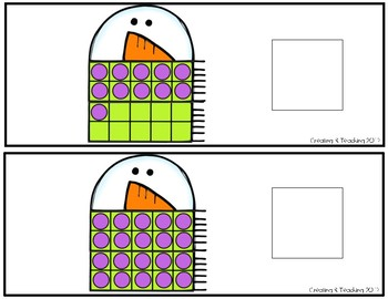 Snowman 20 Frame Counting Interactive Book