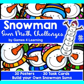 Snowman Math Activity: Fun Winter Math Activity: Build a Snowman Addition