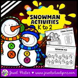 Christmas Worksheets (Snowman Activities for Kindergarten,