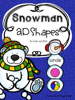 Snowman 2D Shapes