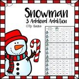 Snowman 3 Addend Addition Clip Game: A No-Prep Holiday Center