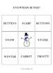 Snowman 3 by 3 BINGO!