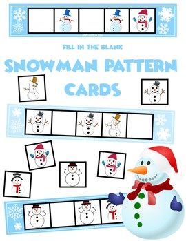 Snowman ABA Pattern Cards | 12 Cards