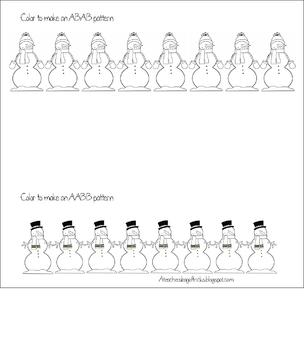Snowman ABAB