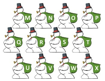 Snowman ABC Gifts