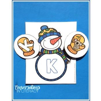 Snowman ABC Letter & Beginning Sounds Match
