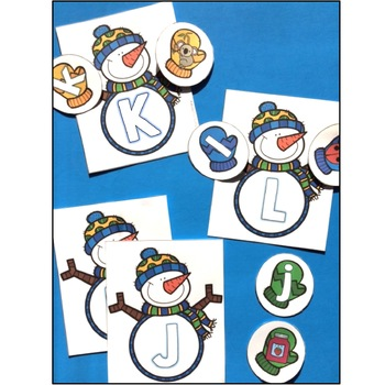 Letter Identification and Beginning Sounds Snowman Activities