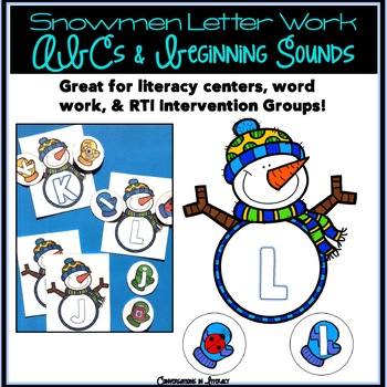 Snowman ABC Letter & Beginning Sounds Match