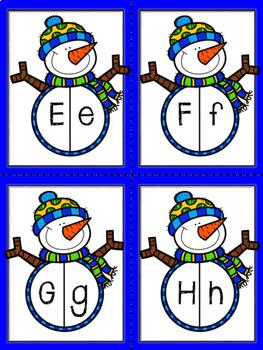 Snowman ABC Match Up
